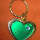St. Evans Heart / December - Turquoise Birthstone Key Chain  UPC:710534484558