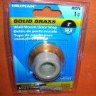 "Hillman Bright Brass 2"" Wall Mount Door Stop  1 Piece #852376  UPC:008236932010"