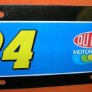 NASCAR Jeff Gordon #24 Plastic License Plate  UPC:794080239725