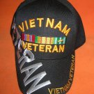 Cap America Black Vietnam Veteran Baseball Cap -Adjustable UPC:710534483919