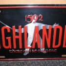 Davis Panzer Production 1592 Highlander There Can Be Only One License Plate #98H