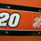 NASCAR Tony Stewart #20 Plastic License Plate  UPC:794080239725
