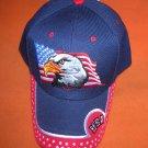 Fashion Headwear Blue Eagle / USA Baseball Cap #HT-558  UPC:710534484053