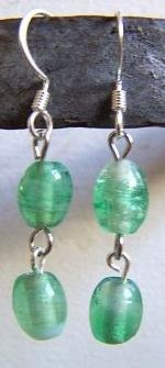 Clear Green Earrings
