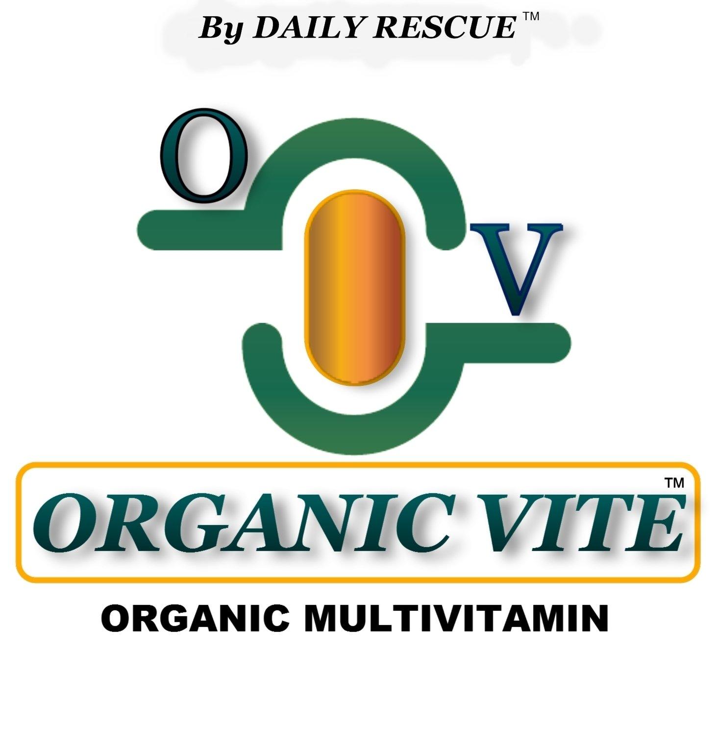 ORGANIC VITE � for MEN -80ct- Best / Advanced Organic Multi-Vitamin Supplement