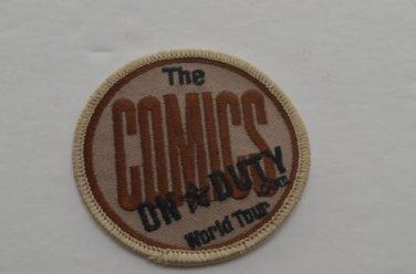 "NEW ""THE COMICS""  ON DUTY.COM  WORLD TOUR PATCH"