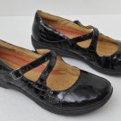 UNSTRUCTURED BY CLARCKS UN.GLARE BLACK CROC LEATHER 87585 SIZE 7M