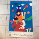 Original Munich 1972 Olympics Games Poster Otmar Alt **FREE SHIPPING**
