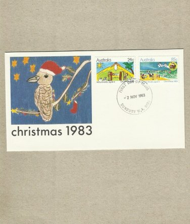 AUSTRALIA CHRISTMAS STAMPS 1983 FIRST DAY COVER