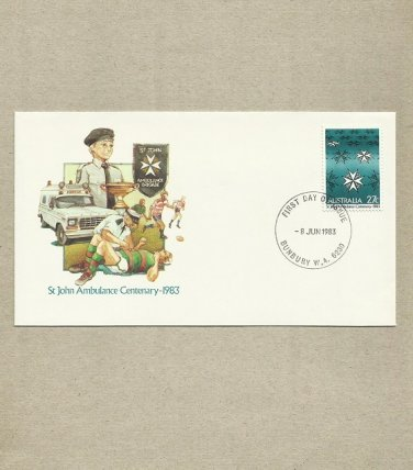 AUSTRALIA ST JOHN AMBULANCE CENTENARY FIRST DAY COVER 1983