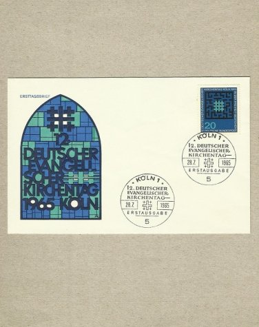 GERMANY EVANGELIC EVANGELIST DAY STAMP FIRST DAY COVER 1965