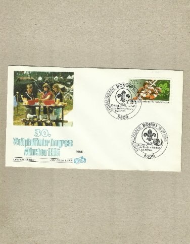 GERMANY SCOUTING CONGRESS MUNCHEN FIRST DAY COVER 1985