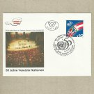 AUSTRIA 50th ANNIVERSARY UNITED NATIONS FDC STAMP 1995 FIRST DAY COVER