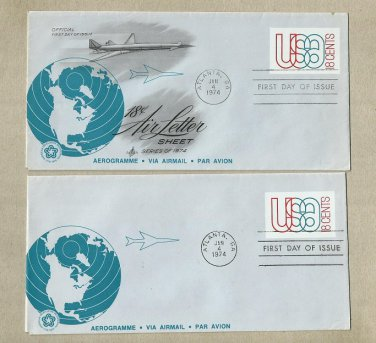 UNITED STATES PAIR SUPERSONIC AIR MAIL FIRST DAY COVER 1974