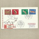 GERMANY WILD ANIMALS FOUR STAMP FDC FIRST DAY COVER 1967