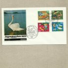GERMANY CHILD WELFARE FOUR STAMP FDC FIRST DAY COVER 1972