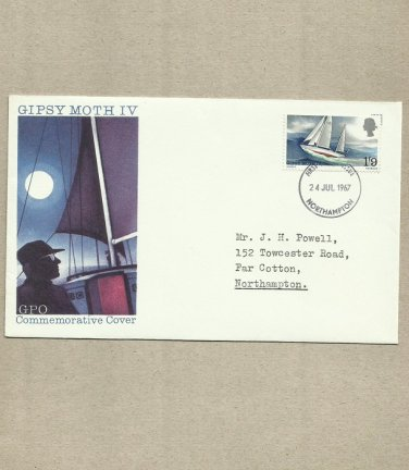 UNITED KINGDOM UK GIPSY MOTH IV SIR FRANCIS CHICHESTER FDC FIRST DAY COVER 1967