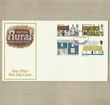 UNITED KINGDOM UK BRITISH RURAL ARCHITECTURE FIRST DAY COVER 1970