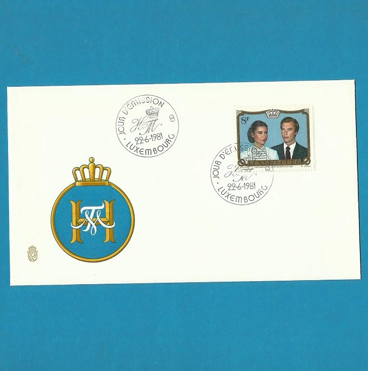 LUXEMBOURG ROYAL WEDDING GRAND DUKE HENRI 1981 FDC FIRST DAY COVER