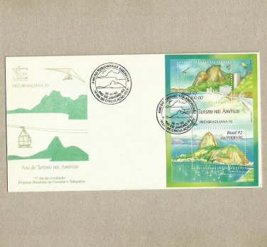 BRAZIL TOURISM FIRST DAY COVER 1992