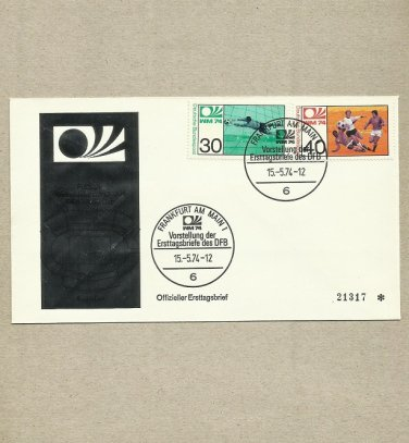 GERMANY FIFA WORLD CUP 1974 FIRST DAY COVER