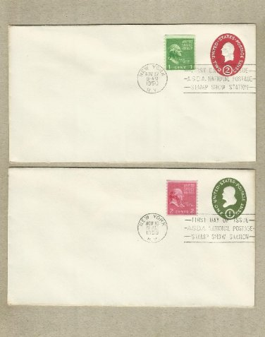 UNITED STATES ONE AND TWO CENT DEFINITIVE FIRST DAY COVERS 1950