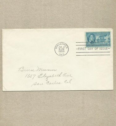 UNITED STATES INDIANA TERRITORY FIRST DAY COVER 1950