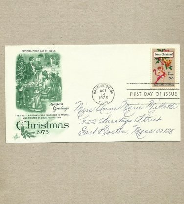 UNITED STATES CHRISTMAS 1975 STAMP FIRST DAY COVER