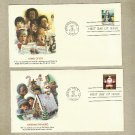 UNITED STATES PAIR CHRISTMAS 1979 STAMP FIRST DAY COVERS