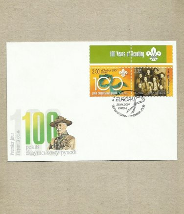 UKRAINE 100 YEARS OF SCOUTING FIRST DAY COVER 2007