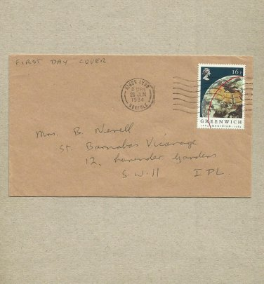 UNITED KINGDOM GREENWICH MERIDIAN 1984 FIRST DAY COVER