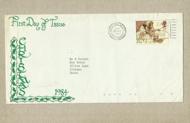 UNITED KINGDOM CHRISTMAS FIRST DAY COVER 1984
