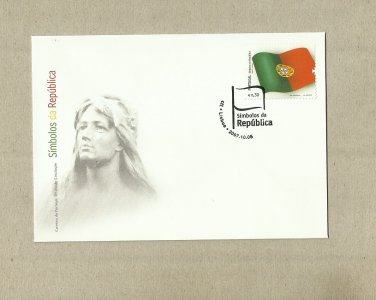PORTUGAL FLAGS OF THE REPUBLIC NATIONAL FLAG FIRST DAY COVER 2007