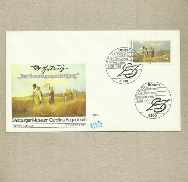 GERMANY 100th ANNIVERSARY OF THE DEATH OF CARL SPITZWEG ARTIST FIRST DAY COVER 1985