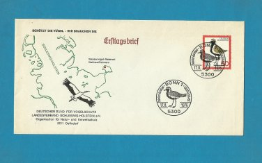 GERMANY BIRD AND ENVIRONMENT PROTECTION FIRST DAY COVER 1976