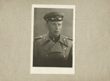 SOVIET SOLDIER PHOTOGRAPH WITH PERSONAL MESSAGE APRIL 1952 KHARKOV