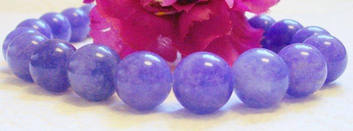 GENUINE Chinese PURPLE JADE Beads 10mm