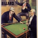 VINTAGE FRENCH BILLIARDS POOL POSTER CANVAS ART PRINT
