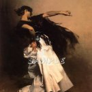 VINTAGE FLAMENCO SPANISH DANCER DANCE CANVAS ART-BIG
