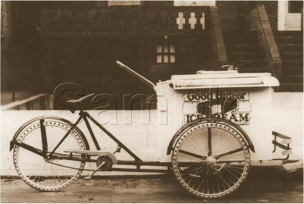GOOD HUMOR ICE CREAM BICYCLE BIKE CART CANVAS ART PRINT