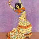 VINTAGE SPANISH DANCE FLAMENCO DANCER CANVAS ART -LARGE