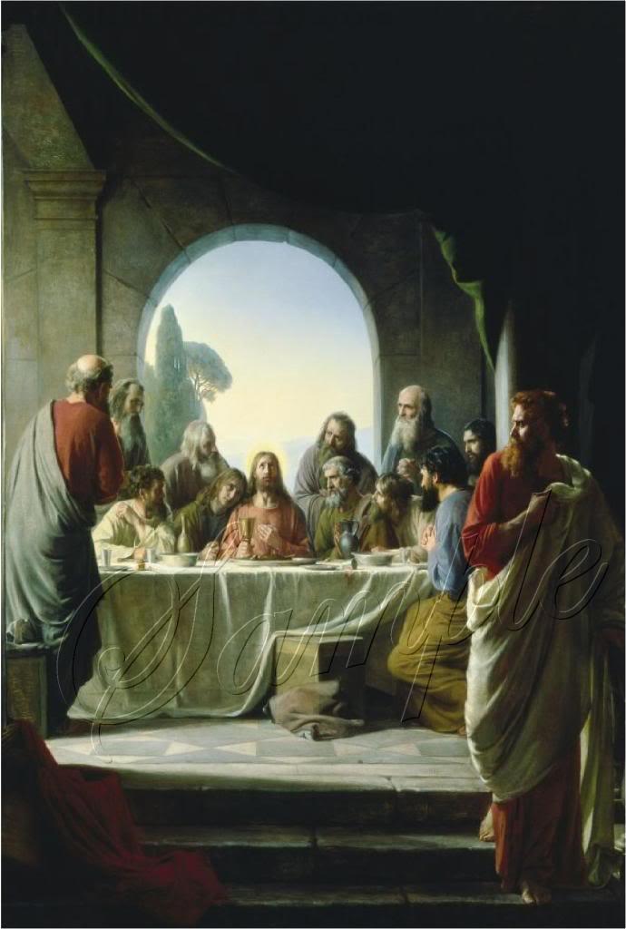 VINTAGE JESUS LAST SUPPER CHRISTIAN CANVAS ART - LARGE