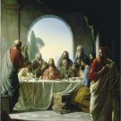 VINTAGE JESUS LAST SUPPER CHRISTIAN CANVAS ART - LARGE