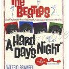 VINTAGE BEATLES  HARD DAYS NIGHT CANVAS ART PRINT LARGE