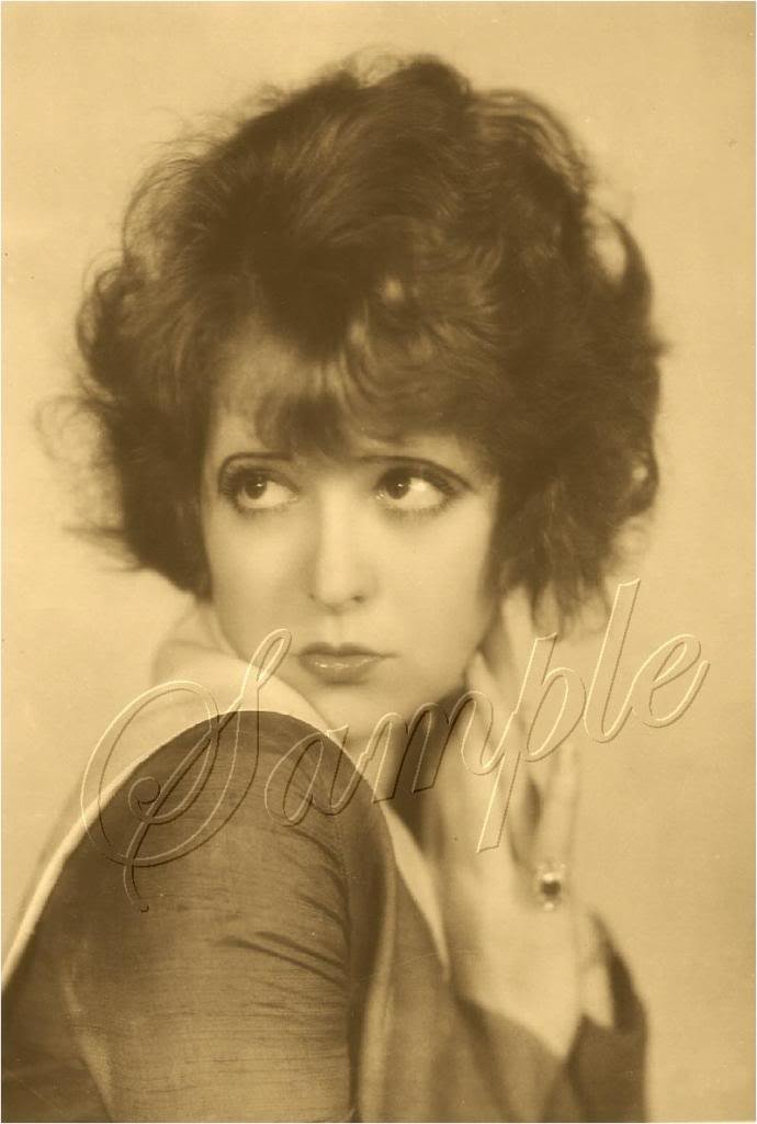 CLARA BOW SILENT FILM STAR PHOTO CANVAS ART PRINT LARGE
