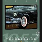 1953 FORD THUNDERBIRD BIRD CLASSIC CAR CANVAS ART PRINT