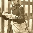 VINTAGE MAIL CARRIER POSTAL LADY POSTMAN CANVAS ART