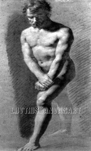 VINTAGE MALE NUDE GAY INTEREST 6 CANVAS ART PRINT LARGE