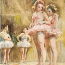 VINTAGE BALLET BALLERINAS DANCERS TUTU CANVAS ART PRINT