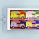 POP ART BUNGALOW BAR TRUCK - 2 ARTISTIC LUGGAGE TAGS